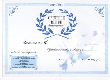 718f58894bf7 Les diplômes des ceintures dans la classe de Chantal Costa, en Lycée  Professionnel