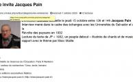 Jacques Pain à Radio Campus Lille le 15-10-2020 : 1932, poème insurrectionnel